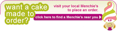 Want a cake made to order? Visit your local Menchie's. Click here to find a location near you.